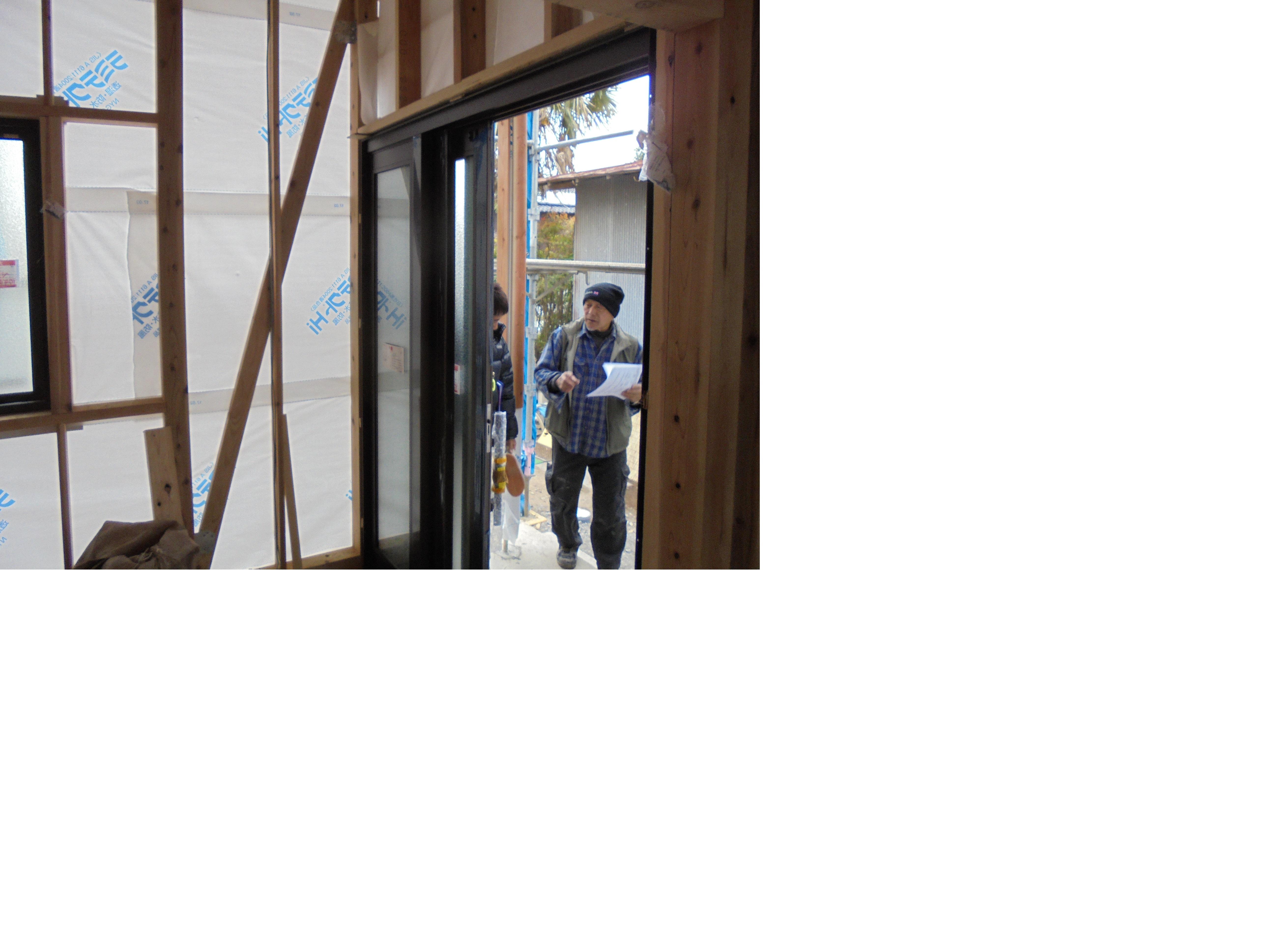 大工さんの工事も順調に      熊谷市N様邸